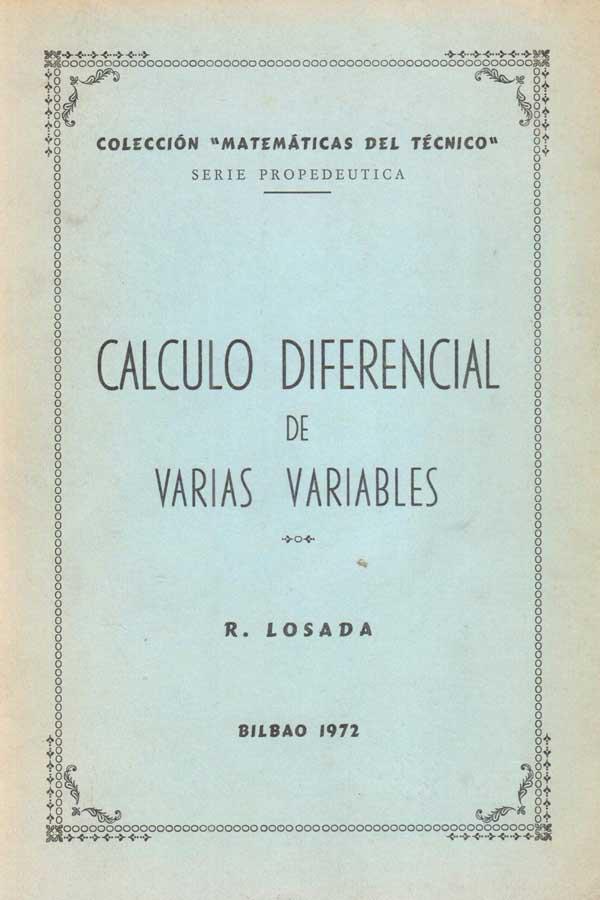 Cálculo diferencial de varias variables – R. Losada