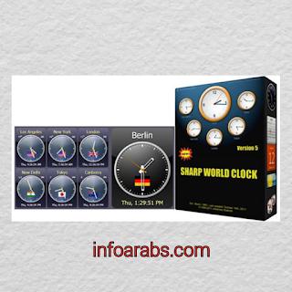 تحميل ساعة لسطح المكتب ويندوز 7 Sharp World Clock