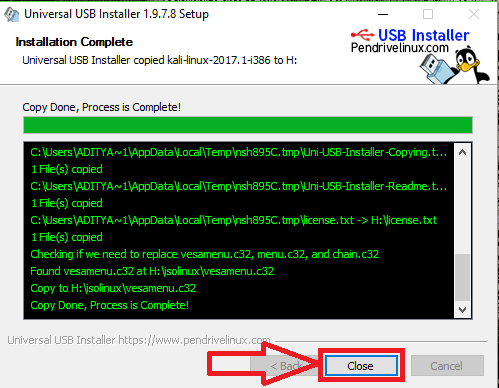 how to download kali linux on usb
