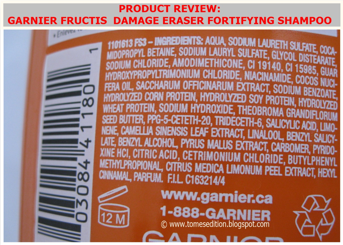 Garnier Fructis Damage Eraser Review Natural Hair