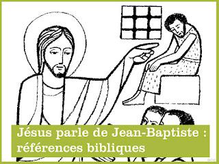 jesus parle de jean baptiste
