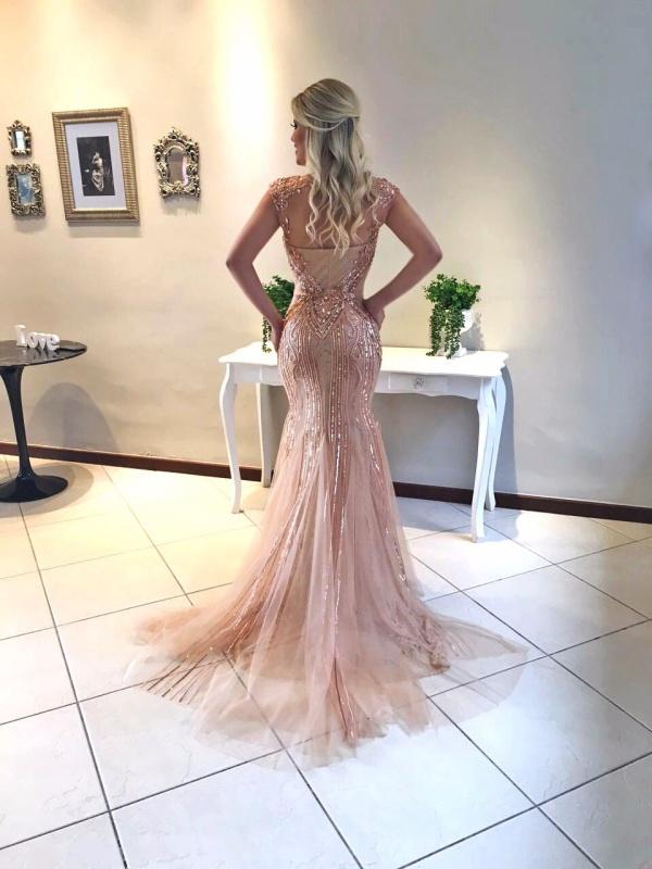 vestido de festa rose gold