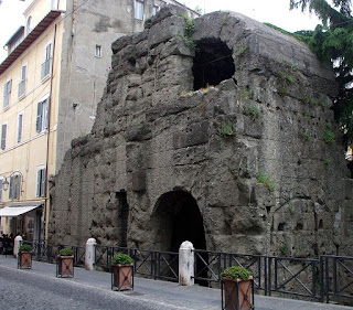 The remains of Porta Pretoria in Albano Laziale