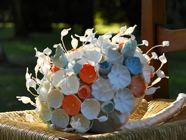 bouquet shabby di carta