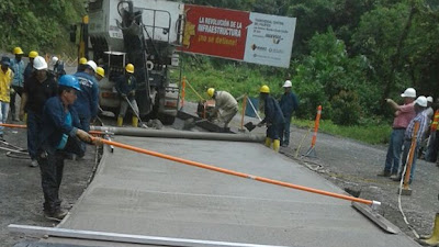 Inician trabajos de pavimentación entre el Tabor y Guarato en la vía hacia Pereira