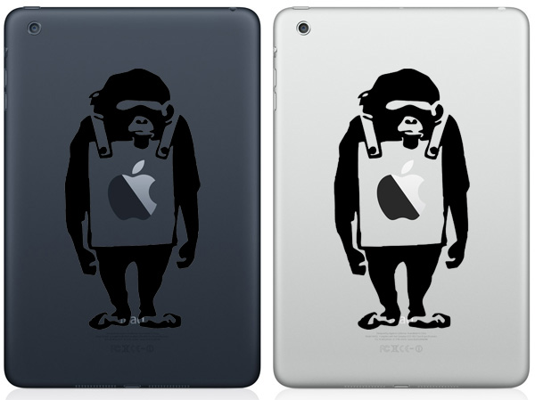 Monkey Wearing Signboard iPad Mini Decals