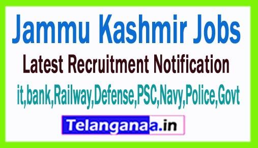 Latest Jammu Kashmir Government Job Notifications