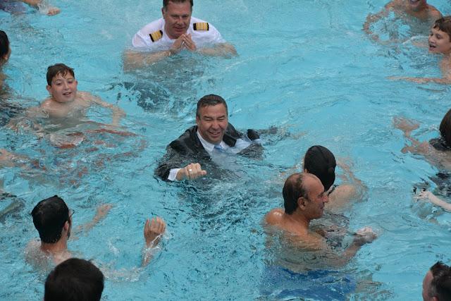 Ice pool swimming