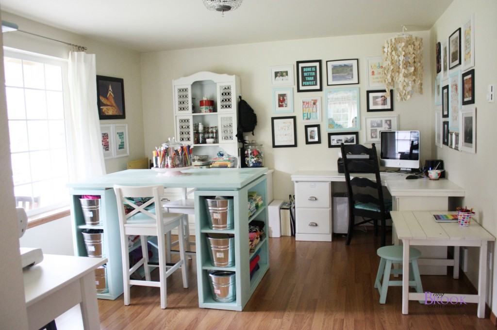 In Fact The Only Furniture Craft Room That Isn T Built Using Ana White Plans Is Dresser Which Was Thrifted And Barstools From Ikea