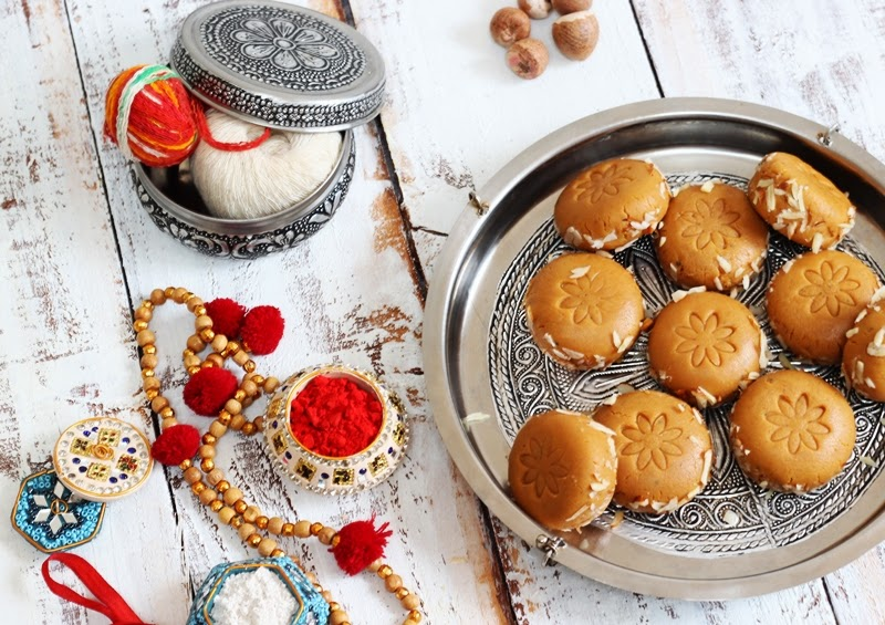 A delicious, soft and milky Almond Mawa malai peda flavoured with Salted Caramel.