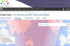 Eclipse Lunar Total de 31 de Enero de 2018: mapa en línea interactivo del eclipse de la superluna azul de sangre