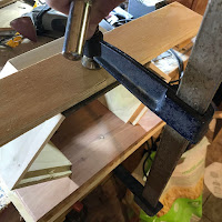 Clamping to make sure of a tight fit