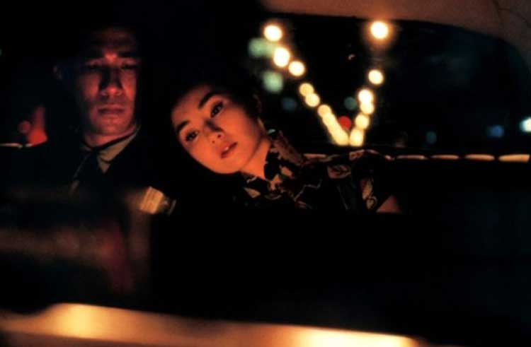Mr. Chow and Mrs. Chan in a car in Wong Kar Wai's In the Mood for Love