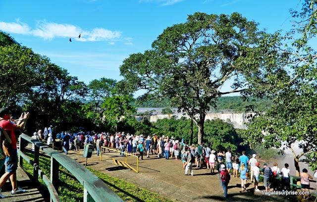 Mirante no Parque Nacional das Cataratas do Iguaçu