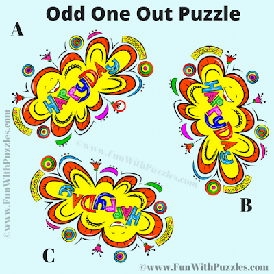 Answer of Odd One Out Picture Riddle for Teens