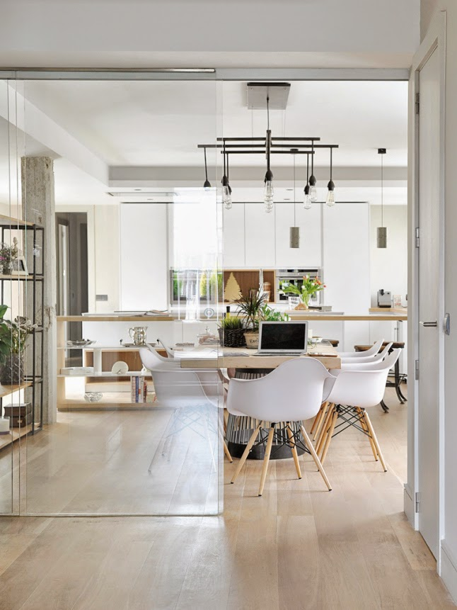 Stile industriale a madrid coffee break the italian for Appartamento design industriale