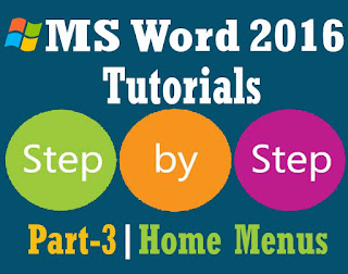 MS Word 2016 Bangla Tutorial Part 3 Home Menu First Part
