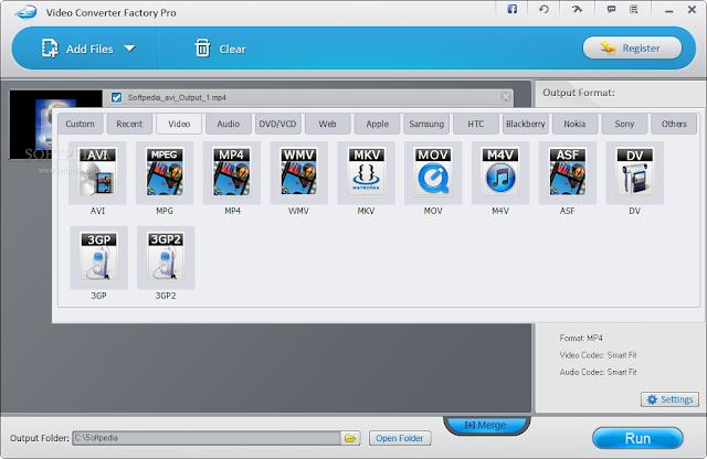 تحميل برنامج تحويل الفيديو الى mp3-avi-MKV للكمبيوتر Video Converter Factory Pro 8.8