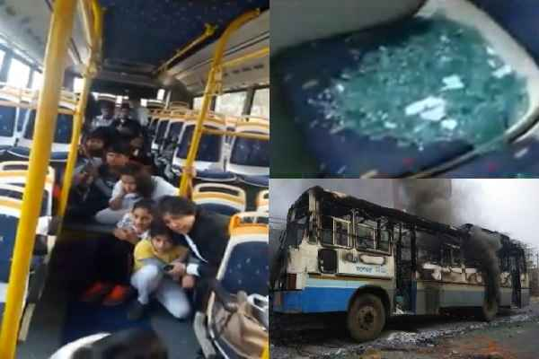 karni-sena-protest-in-gurugram-against-padmavat-attack-on-school-bus