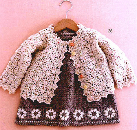 Cardigan crochet for girls