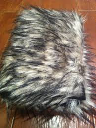 Gypsy Sparkle faux fur brush roll