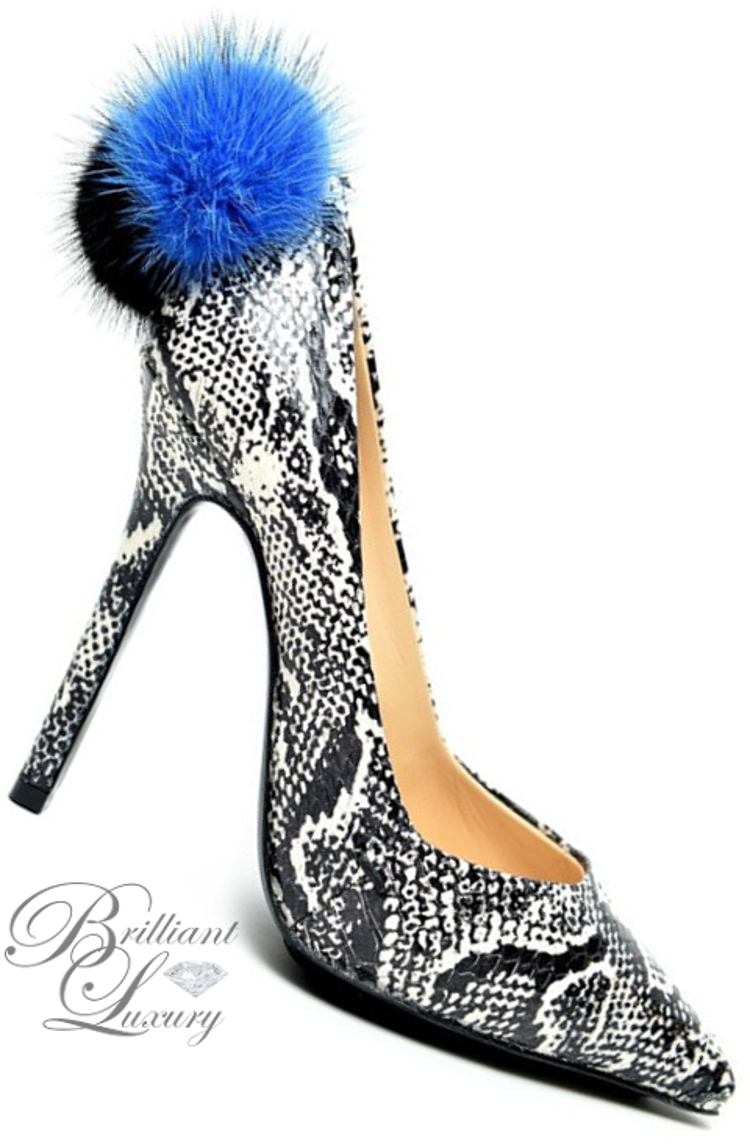 Brilliant Luxury ♦ Aperlaï Pompom Pumps
