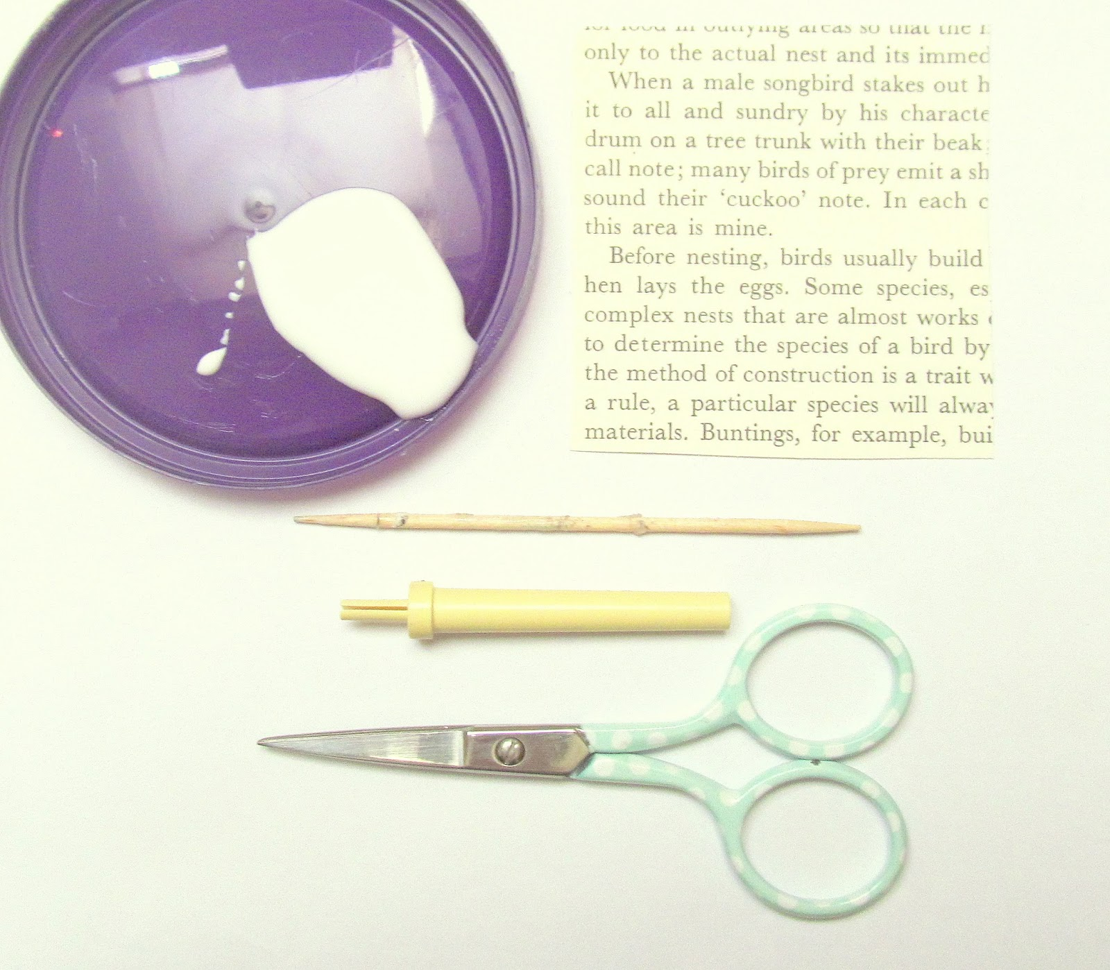 tools for making a paper rose