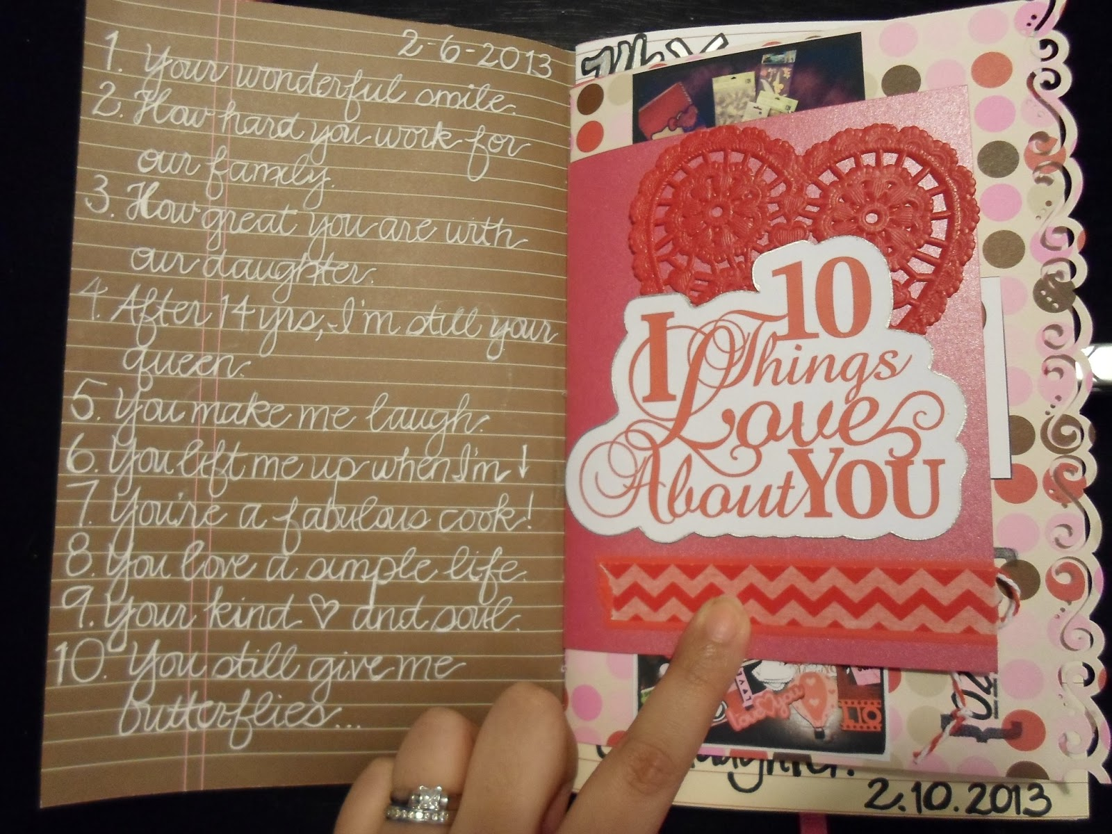 10 Things I Love About You: A Crafty Island Girl: Daybook Of Love: Weeks 1