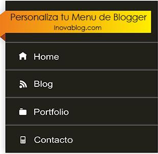 Personalizar el Menú de Paginas Blogger