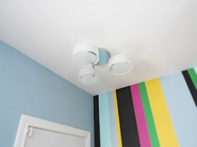 eBay light fixture before recessed can light