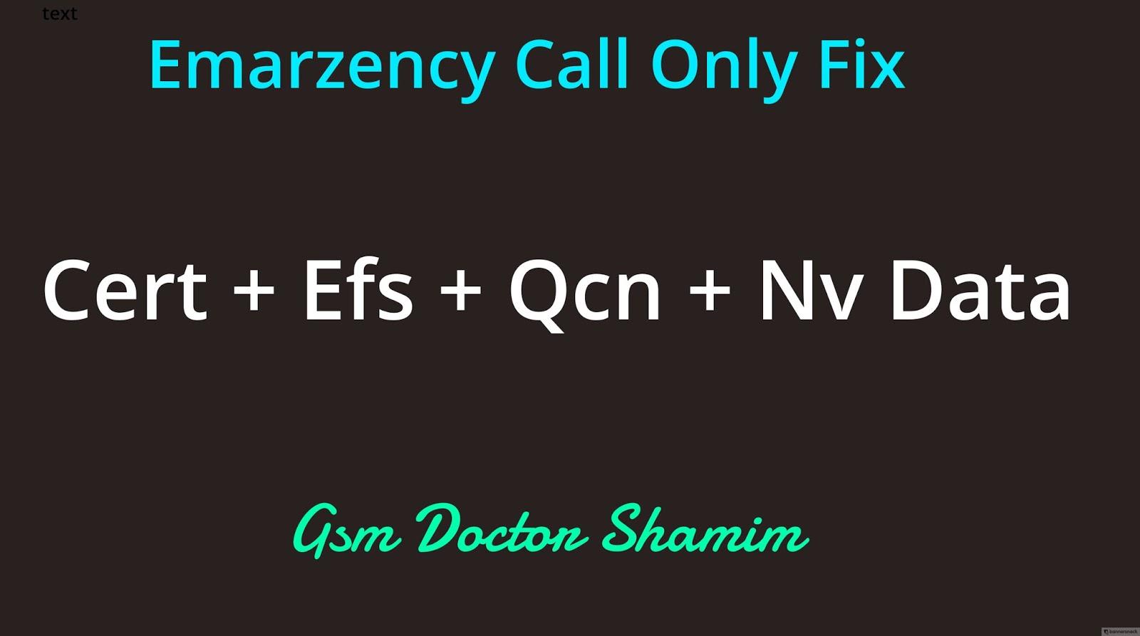 Samsung G570F cert+efs+nv data+pit - no service+emergency call only+