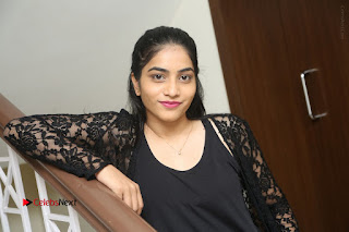 Actress Punarnavi Bhupalam Stills in Black Dress at Pittagoda Press Meet  0159.JPG