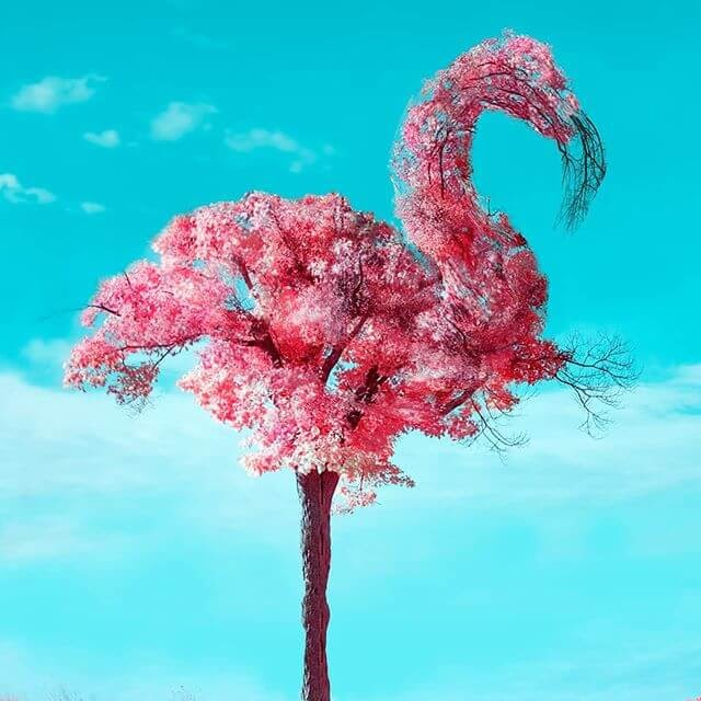 10-Flamingo-Tree-Digital-Art-Martijn-Schrijver-www-designstack-co