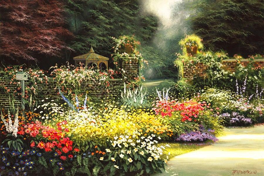 im genes arte pinturas vistas paisajes con jardines