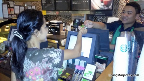 My First Starbucks Card Transaction