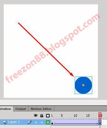 cara membuat animasi gerakan adobe flash
