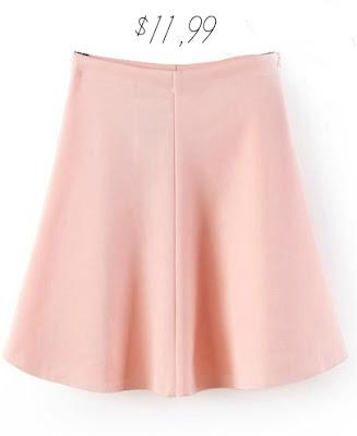 Pink High Waist Ruffle Skirt
