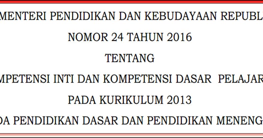 Image Result For Download Permendikbud Tentang Format Rpp Kurikulum A