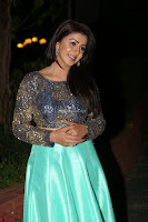 Nikki Galrani in Green Skirt  Top at Marakathamani music launch ~  Exclusive (106).JPG