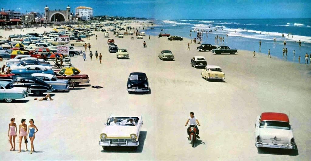 Daytona Beach in Florida, 1957 ~ vintage everyday