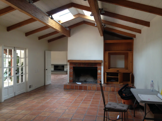 image result for family room before Malibu Mediterranean Modern Farmhouse Giannetti Home