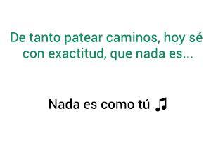 Ricardo Arjona Nada Es Como Tú significado de la canción