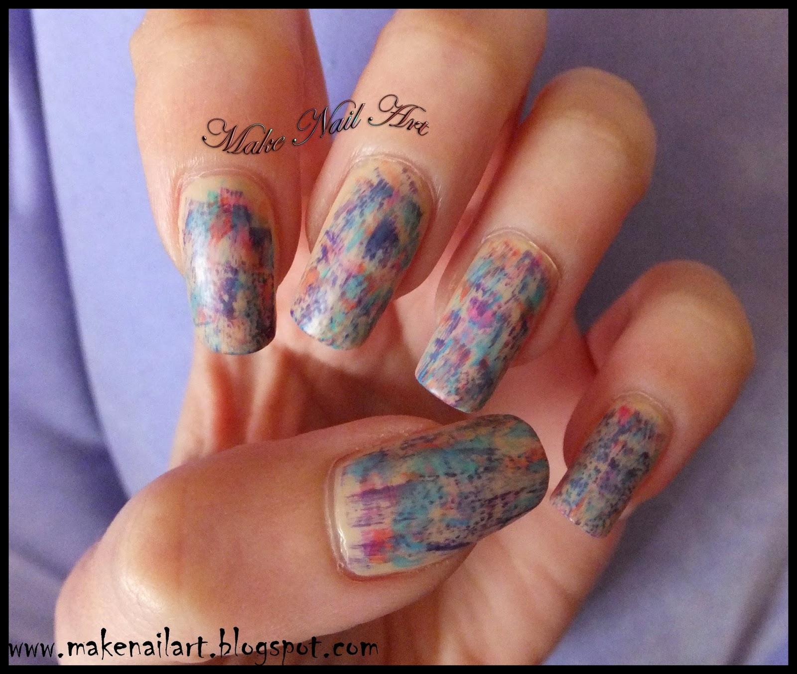 Make Nail Art: Distressed Pastel Matte Spring Nails Nail Art ...