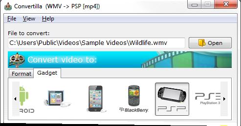 Convertilla - Μετατρέψτε αρχεία βίντεο και ήχου σε ότι φορμάτ θέλετε