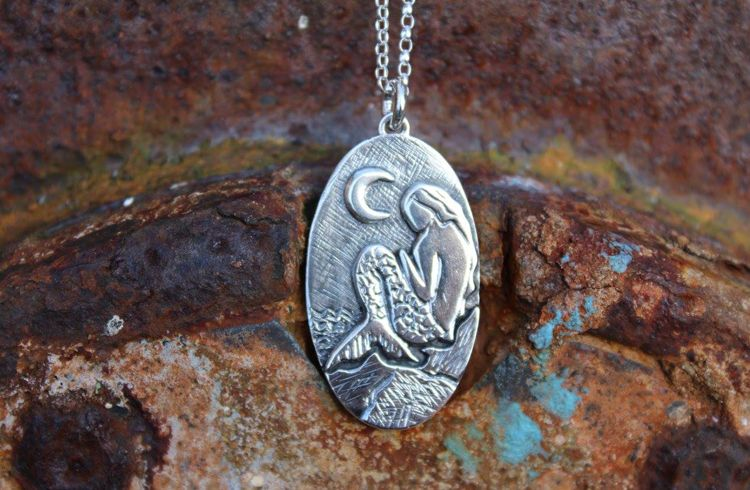 Silver Mermaid Pendant by Leisa Howes Jewellery