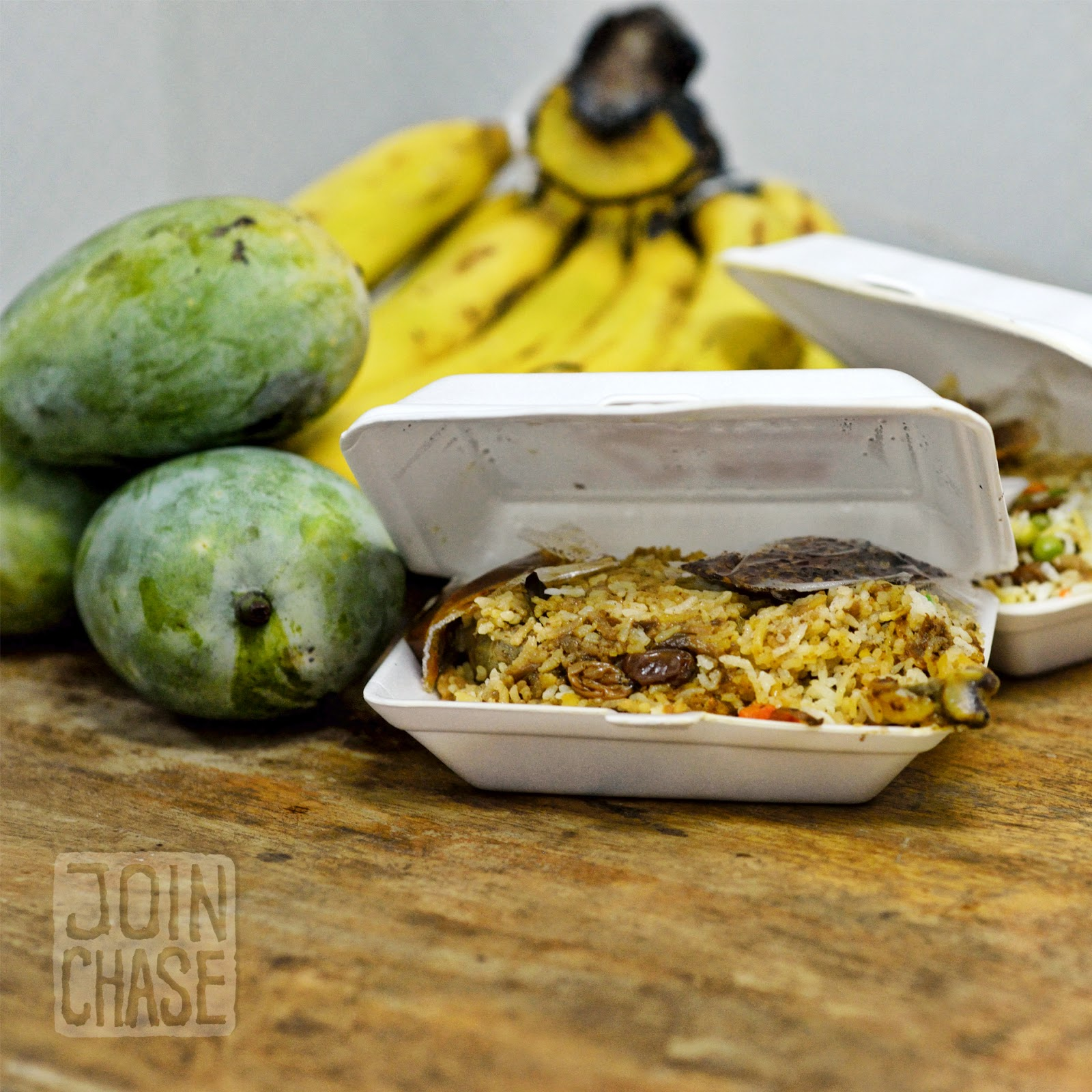 Bananas, mangos, and meals provided by coworkers and neighbors in Yangon, Myanmar.