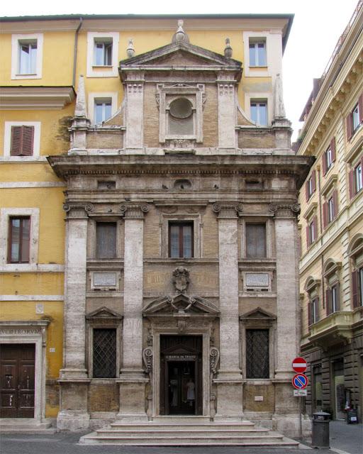 Santa Maria in Trivio by Giacomo del Duca, Piazza dei Crociferi, Rome