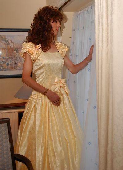 Transvestite with yellow dress