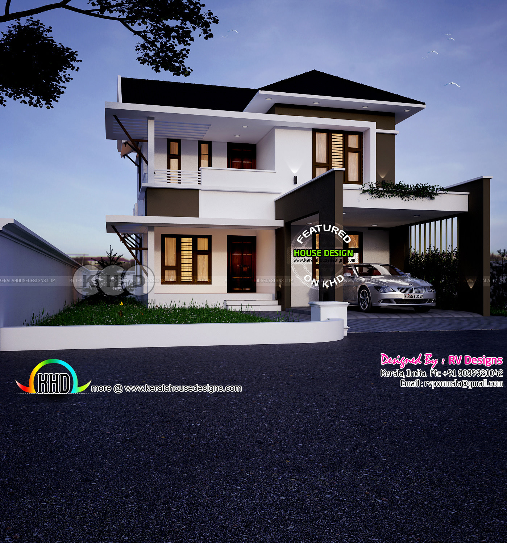 Modern House Designs 3 Bedroom: 1755 Square Feet, 3 Bedroom Modern Home