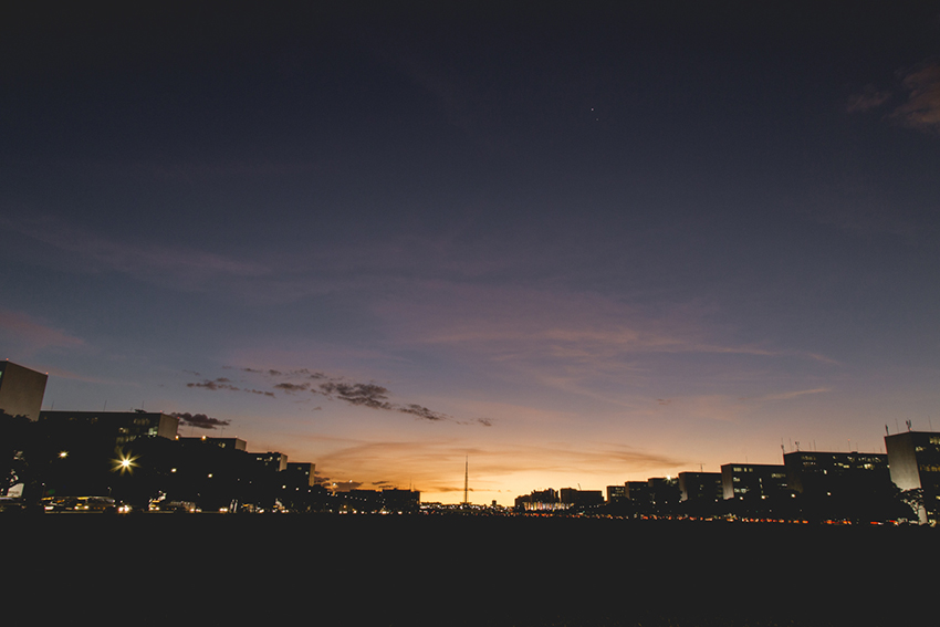 pôr-do-sol em brasília